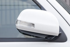 Side rear-view mirror closed for safety Stock Photography
