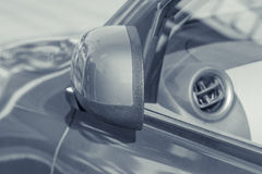 Side rear-view mirror closed Stock Photos