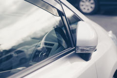 Side rear-view mirror closed Royalty Free Stock Photos