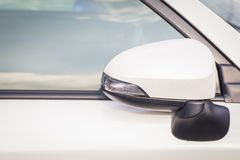 Side rear-view mirror closed Royalty Free Stock Photography