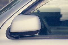 Side rear-view mirror closed Stock Photo