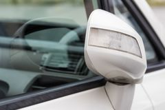 Side rear-view mirror closed stock images