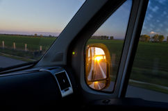 Side rear-view mirror Royalty Free Stock Photo