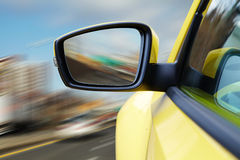 Side rear-view mirror on a modern car Stock Photography
