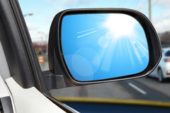 Side rear-view mirror on a modern car Stock Images