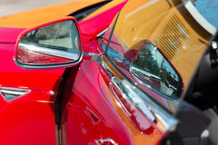 Side rear-view mirror Royalty Free Stock Image