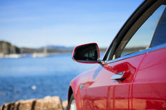 Side rear-view mirror Royalty Free Stock Photography
