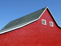 Side of a red barn. Royalty Free Stock Photo