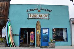 Side by side Rincon Design Surf Shop and Surf Boards, 1. royalty free stock image
