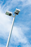 Side road light lamp Royalty Free Stock Photo