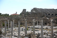 Side ruins in Turkey Stock Photography