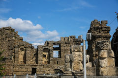 Side ruins in Turkey Royalty Free Stock Images