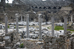 Side ruins in Turkey Stock Images
