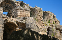 Side ruins in Turkey Royalty Free Stock Image