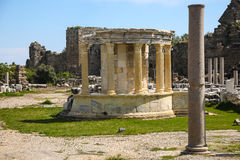 Side ruins in Turkey Royalty Free Stock Photo