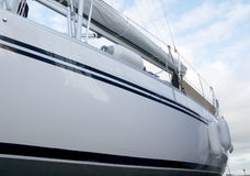 Side of sailboat Stock Photography
