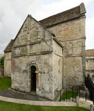 Side of Saxon church of st Lawrence, Bradford on Avon Royalty Free Stock Images