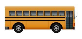 Side of school bus mockup, realistic style stock illustration