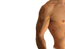 Side shirtless man Royalty Free Stock Photography