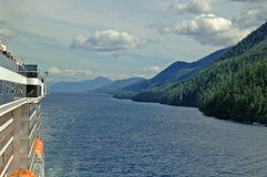 Side Shot. View South Bound in the Inside Passage to Alaska Stock Photo