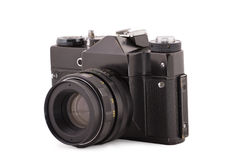 Side shot of the old film black camera Royalty Free Stock Photo