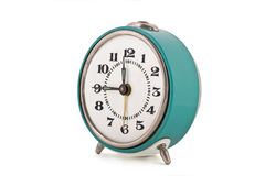 Side shot of old soviet mechanical alarm clock Royalty Free Stock Image