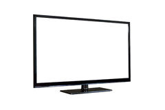 Side shot of plasma tv screen isolated on white Stock Images