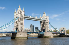 Side shot of Tower Bridge. Royalty Free Stock Photos