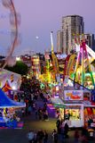 Side Show Alley at the Ekka Exhibition or Royal Queensland Show in Brisbane Royalty Free Stock Image