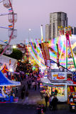 Side show alley at the Ekka Royal Queensland Show Royalty Free Stock Photo