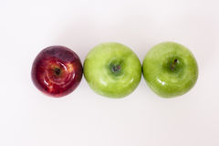 Side by side apples Royalty Free Stock Images