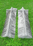 Side by side nineteenth century grave coverings Royalty Free Stock Photography