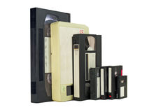 Side by side videotapes Stock Image