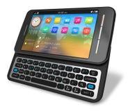 Side slider touchscreen smartphone Stock Photo