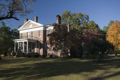 Side of Southern mansion. The sideview of Rosewood Manor located in Marion, South Carolina Stock Images