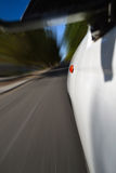 Side of a speeding car royalty free stock photo