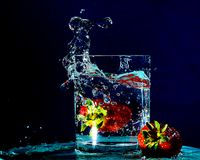 Side Splashing royalty free stock images
