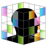 In side square cube Stock Photos