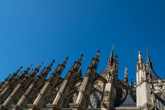 Side of St.Barbara Church in Kutna Hora Royalty Free Stock Images