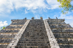 Side Stairway, Mayan Ruins. at chichen Itza, Traveling Riviera M Stock Photos