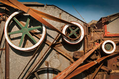 Side of Steam Powered Thresher Royalty Free Stock Photos