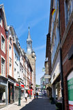 Side street in Aachen, Germany Royalty Free Stock Images