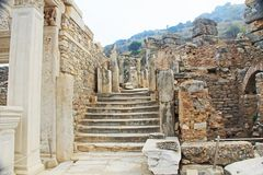 A Side Street in the Ancient City of Ephesus, Turkey stock image