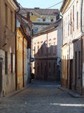 Side street Cluj Napoca Stock Images
