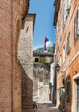 Side Street in Kotor Kotor Royalty Free Stock Photography