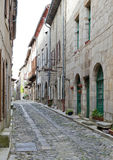 Side street in Lagrasse France Stock Photos