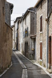 Side street in Lagrasse France Stock Images