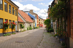 A side street in Malmo. Sweden Stock Photo