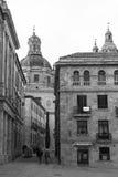 Side Street in Salamanca leading to La Clerecia Royalty Free Stock Photo