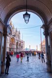 Side street from St. Mark`s Square in Venice, Italy Royalty Free Stock Image
